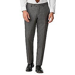 Jeff Banks - Grey donegal mixed tailoring wool blend tailored fit trousers