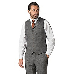 Jeff Banks - Grey donegal mixed tailoring wool blend tailored fit waistcoat
