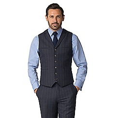 Jeff Banks - Blue check mixed tailoring wool blend tailored fit waistcoat