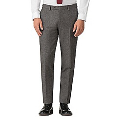 Jeff Banks - Grey puppy tooth mixed tailoring wool blend tailored fit trousers