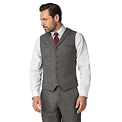 Jeff Banks - Grey puppyytooth mixed tailoring wool blend tailored fit waistcoat