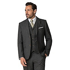 Jeff Banks - Charcoal puppy tooth mixed tailoring wool blend tailored fit jacket