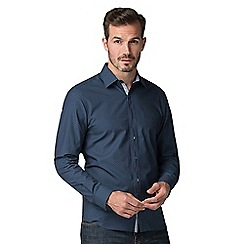Jeff Banks - Blue tile print shirt