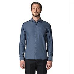 Jeff Banks - Navy dash dobby shirt