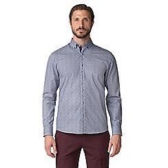 Jeff Banks - Blue floral print shirt