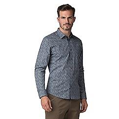 Jeff Banks - Navy sunflower print shirt