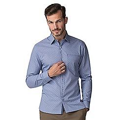 Jeff Banks - Blue check dobby shirt