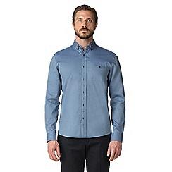 Jeff Banks - Blue textured check shirt