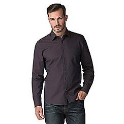 Jeff Banks - Brown zig zag jacquard shirt