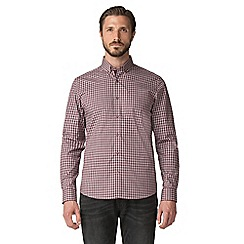 Jeff Banks - Mulberry gingham shirt