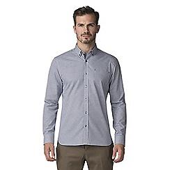 Jeff Banks - Navy weaves micro check shirt
