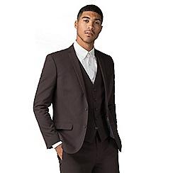 Red Herring - Burgundy slim fit jacket