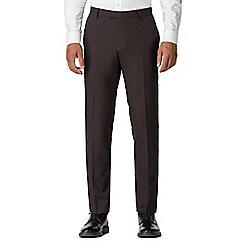 Red Herring - Burgundy slim fit trousers