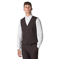 Red Herring - Burgundy slim fit waistcoat