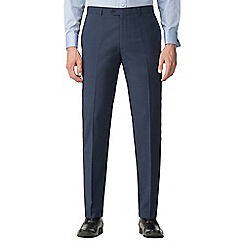 Jeff Banks - Bright blue textured machine washable tailored fit wool blend formal trousers