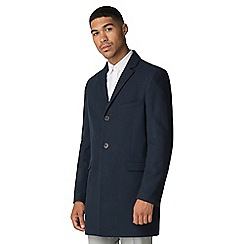 Red Herring - Sapphire blue Melton overcoat