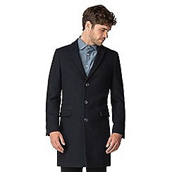 Racing Green - Navy texture overcoat