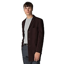 Ben Sherman - Mulberry melton overcoat