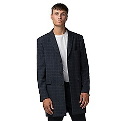 Ben Sherman - Blue with white check melton overcoat
