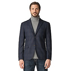 Jeff Banks - Jeff Banks blue wool blend large check blazer