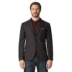 Jeff Banks - Jeff banks brown wool blend check blazer