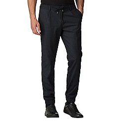 Jeff Banks - Atelier by Jeff banks navy elasticated hem trousers