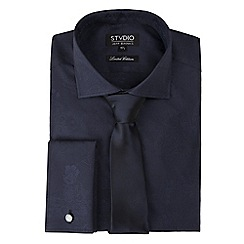Stvdio by Jeff Banks - Limited edition navy floral jacquard shirt