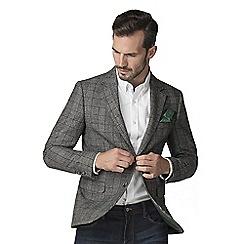 Jeff Banks - Grey Wool Blend Prince Of Wales Check Blazer
