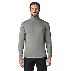 Jeff Banks - Grey marl cotton roll neck jumper