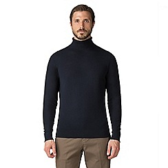 Jeff Banks - Jeff Banks Navy cotton roll neck jumper