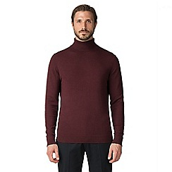 Jeff Banks - Burgundy cotton roll neck jumper