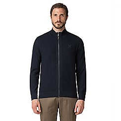 Jeff Banks - Jeff banks navy tuck stitch cardigan
