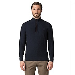 Jeff Banks - Jeff banks navy button & half zip jumper