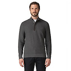 Jeff Banks - Jeff banks charcoal button & half zip jumper