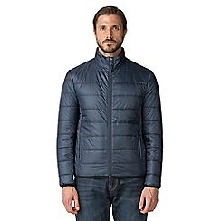 Jeff Banks - Teal lightweight quilted puffer jacket
