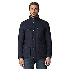 Jeff Banks - Navy wool blend utility jacket