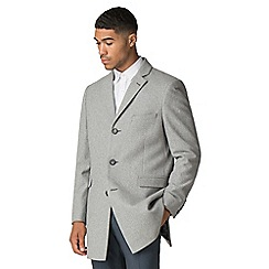 Red Herring - Light grey melton overcoat