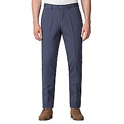 Jeff Banks - Jeff Banks Blue textured diamond weave trousers