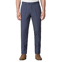 Jeff Banks - Jeff Banks Blue textured diamond weave trousers