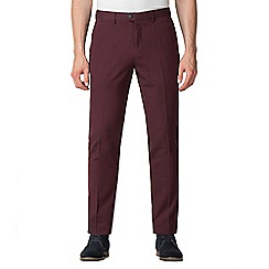 Jeff Banks - Jeff Banks Burgundy textured diamond weave trousers