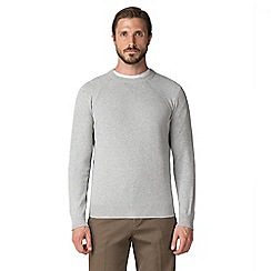 Jeff Banks - Jeff banks light grey crew neck raglan sleeve jumper
