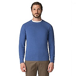 Jeff Banks - Jeff banks blue crew neck raglan sleeve jumper