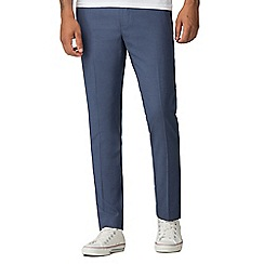 Red Herring - Blue birdseye slim fit formal trousers