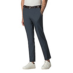 Red Herring - Blue chambray skinny fit formal trousers