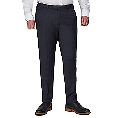 Racing Green - Blue Textured Tailored Trousers