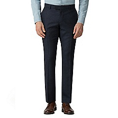 Racing Green - Blue Donegal Tailored Big & Tall Trousers