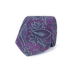Stvdio by Jeff Banks - Purple herringbone paisley tie
