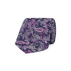 Stvdio by Jeff Banks - Magenta sketch paisley tie