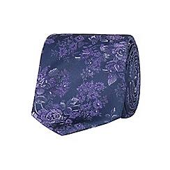 Stvdio by Jeff Banks - Stvdio by Jeff Banks purple tonal floral tie