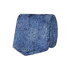 Stvdio by Jeff Banks - Blue etched carnation tie